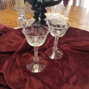 Other - Antique Wine Glasses, Pair